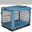"Pet Gear The Other Door Steel Crate with Plush Pad 27"" - Ocean Blue"