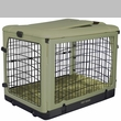 "Pet Gear The Other Door Steel Crate with Plush Pad 27"" - Sage"