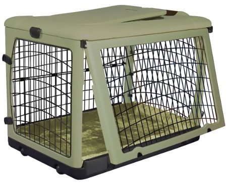 "Pet Gear The Other Door Steel Crate with Plush Pad - 27"" - Sage"