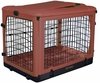 "Pet Gear The Other Door Steel Crate with Plush Pad 42"" - Brick"