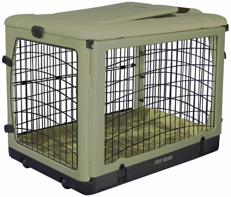 "Pet Gear The Other Door Steel Crate with Plush Pad 42"" - Sage"