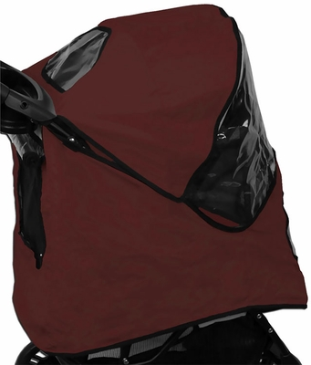 Pet Gear Weather Cover for Jogger Stroller - Burgundy