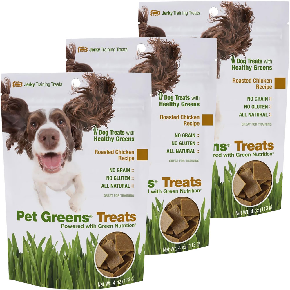 Pet Greens Jerky Dog Treats Roasted Chicken 3-PACK (12 oz)