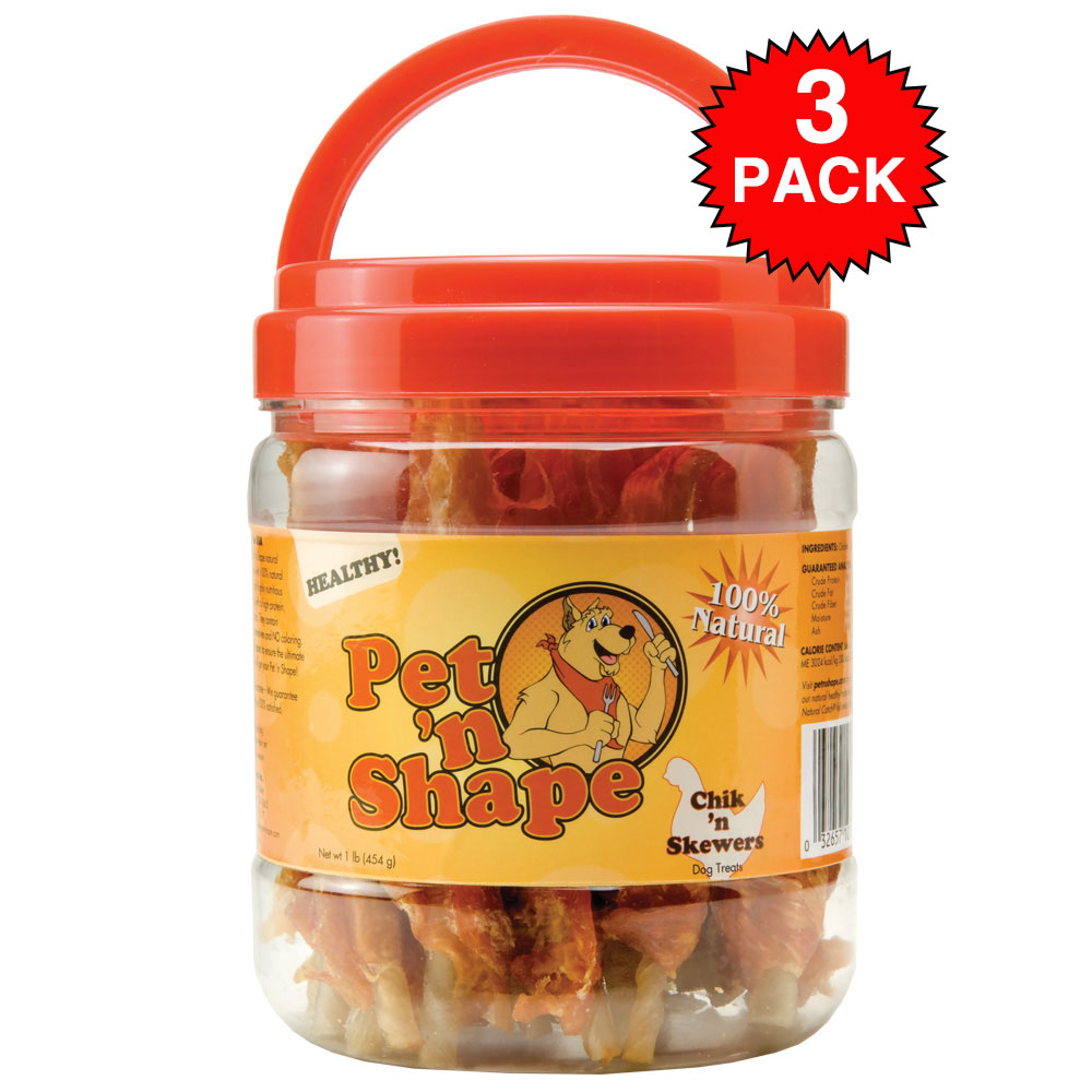 Pet 'N Shape Chik 'n Skewers Dog Treats (3 pk)