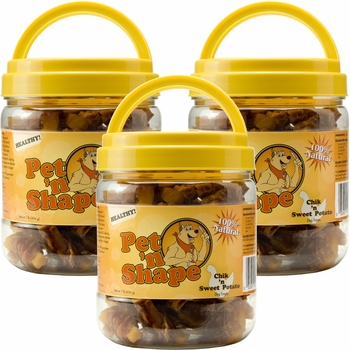 Pet 'n Shape Chik 'n Sweet Potato Dog Treats (3 pk)
