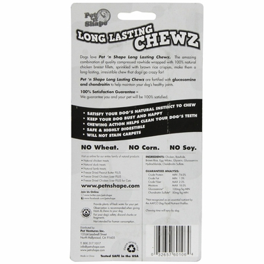 "Pet 'N Shape Long Lasting Chewz 6"" Bone"