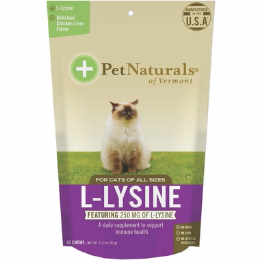Pet Naturals L-Lysine Chews for Cats (60 count)