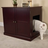 Pet Studio Litter Box Cabinet - Mahogany