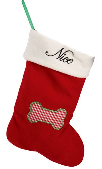 Pet Studio Naughty & Nice Stockings Dog