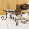 Pet Studio Wrought Iron Diner w/2 Bowls - 2 Quart