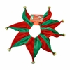 Pet Works Holiday Jester Collar with Bells - Medium