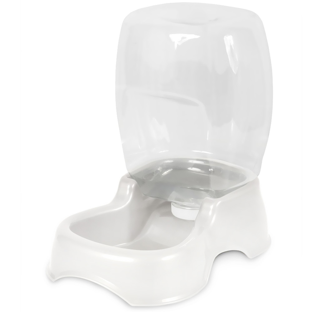 Petmate Cafe Waterer 0.75 Gallon - Pearl White