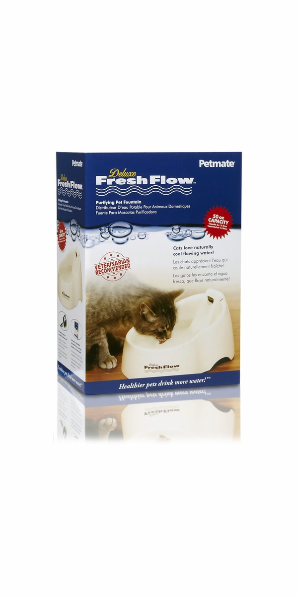 Petmate Deluxe Fresh Flow Pet Fountain - Medium (50 oz capacity)