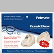 Petmate Fresh Flow Replacement Filter (3 pack) 12Pk Clip Strip