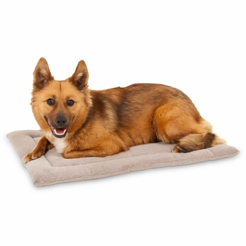"Petmate Kennel Mat Tan - 23.5""x16.5"" (25-30 lbs)"
