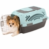 Petmate Pet Taxi Fashion Blue/Coffee (Small)