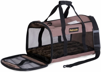 Petmate Plush Soft Side Kennel Cab Large upto 15lbs - Taupe/Mink