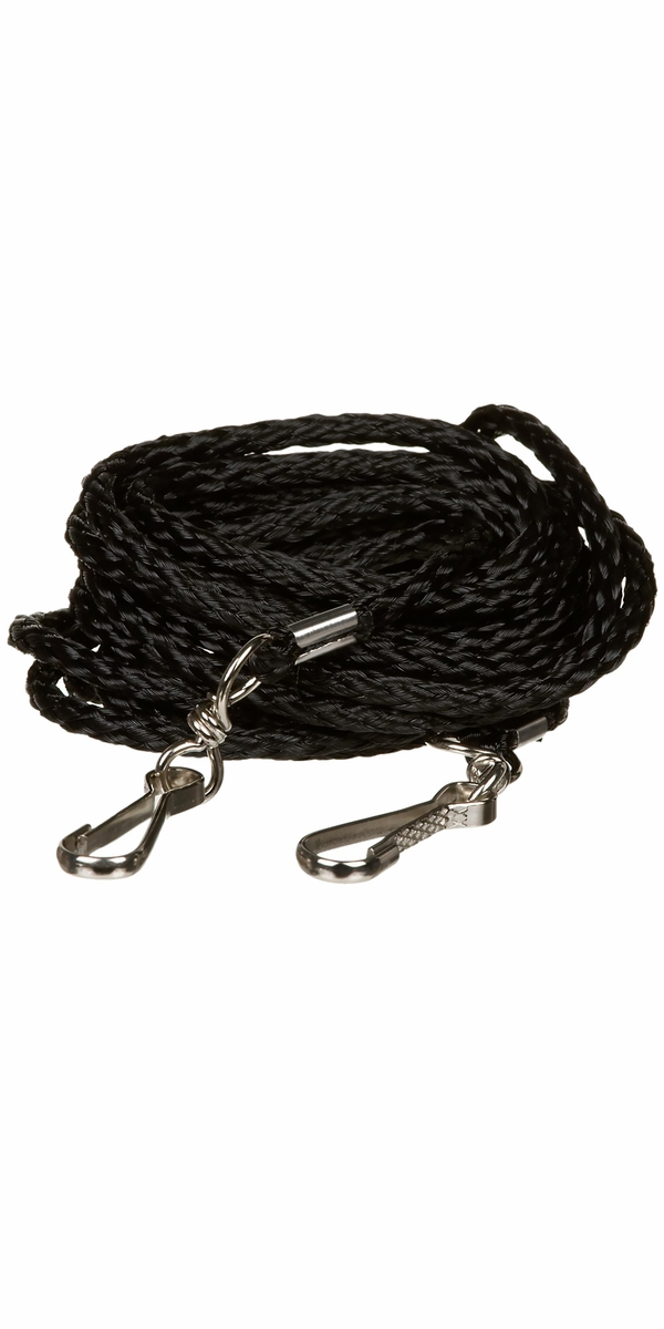Petmate Poly Braided Tieout Black - Small 10'