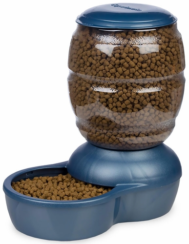 Petmate Replendish Feeder with Microban (10 lb) - Pearl Peacock Blue