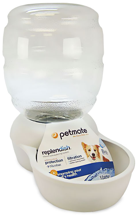 Petmate Replendish Waterer with Microban 2.5 Gallon - Pearl White