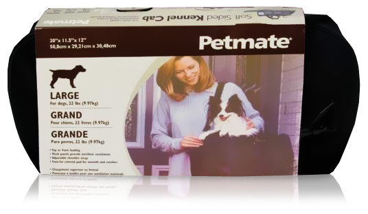 Petmate Soft Sided Kennel Cab Large upto 15 lbs - Black