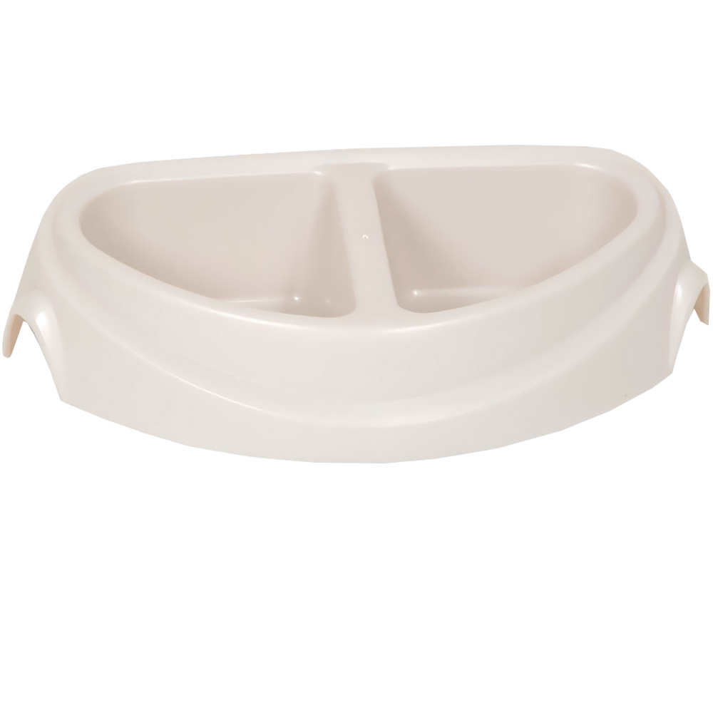 Petmate Ultra Heavyweight Double Diner Dish with Microban 1cup - Small
