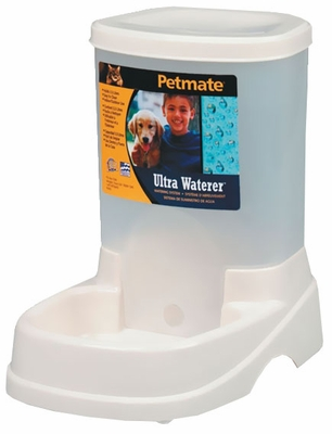 Petmate Ultra Waterer with Microban - Pearl White