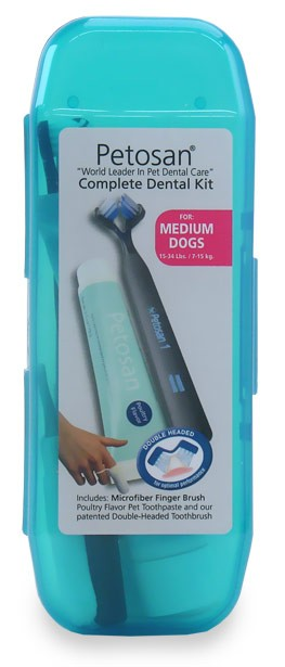 Petosan Complete Dental Kit for Medium Dogs