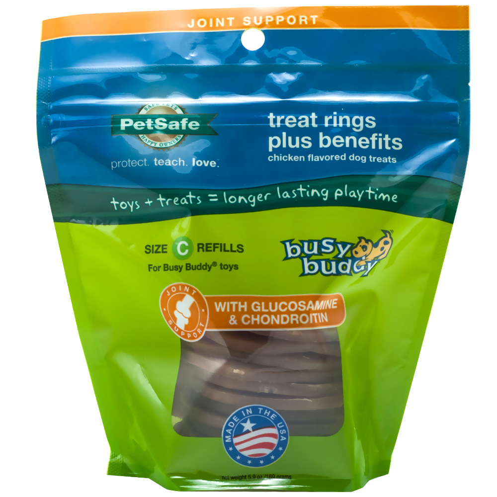 Petsafe Busy Buddy Treat Rings Plus Benefits Joint Support - Size C Refills