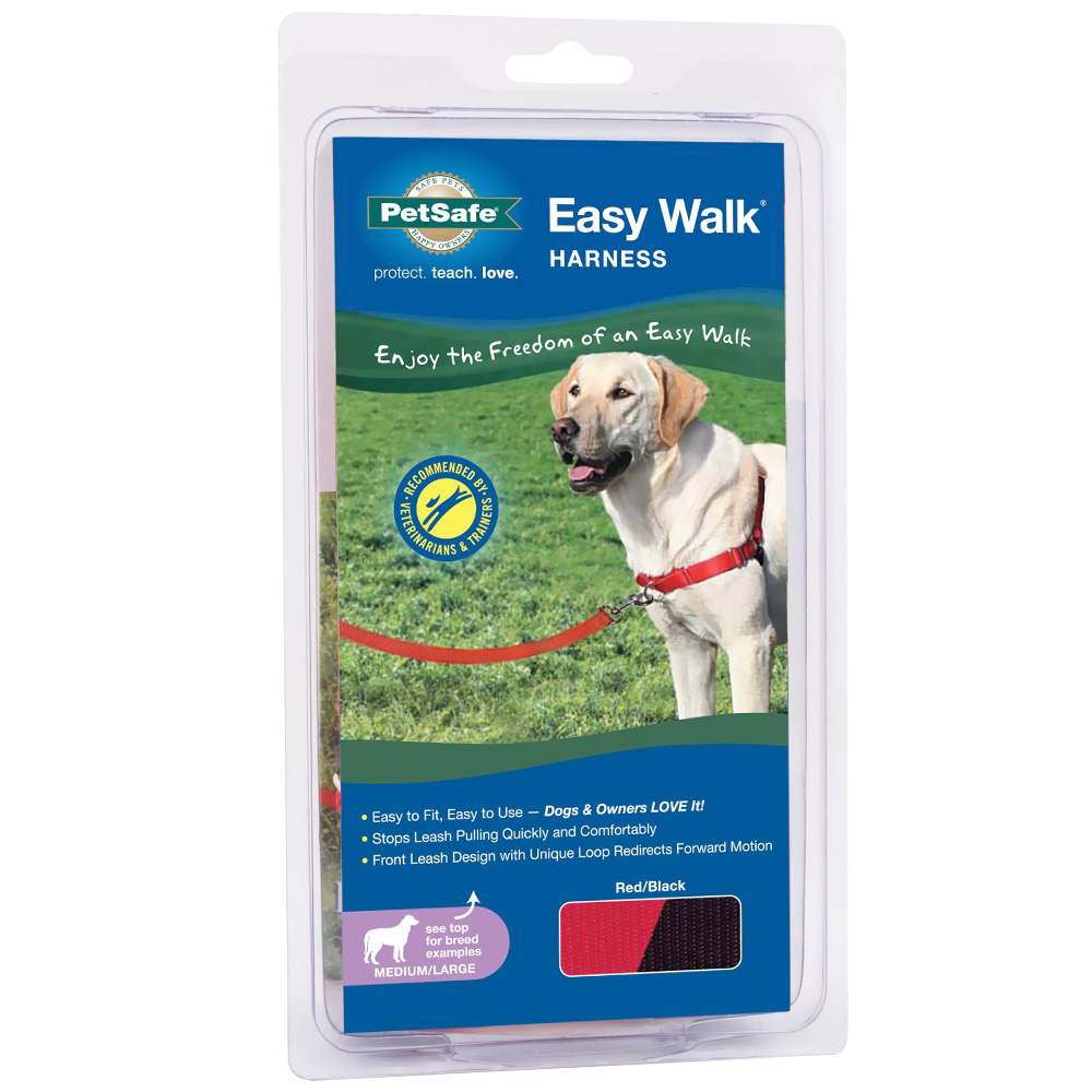 PetSafe Easy Walk Harness - Red/Black (Medium/Large)