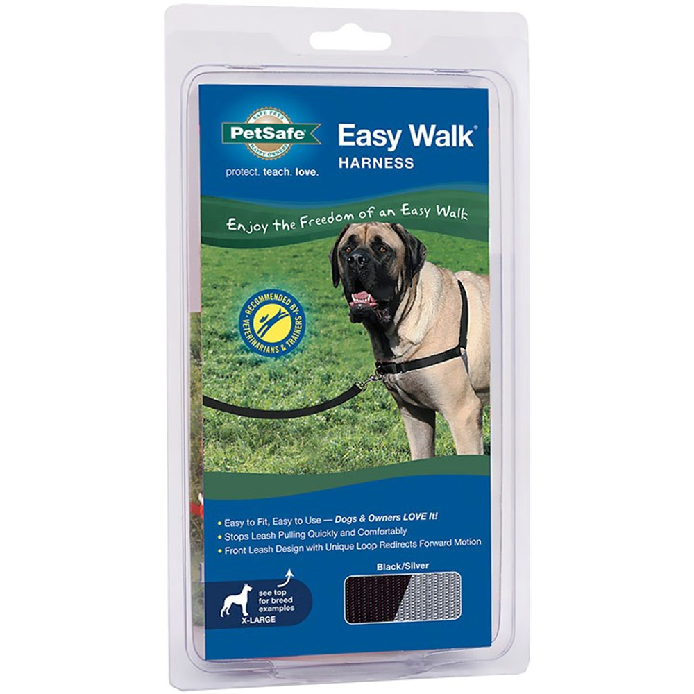 PetSafe® Easy Walk® Harness - Black/Silver (X-Large)
