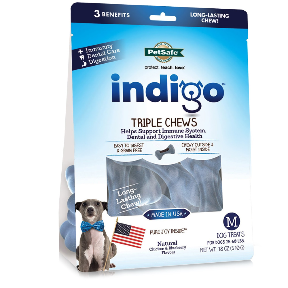 Petsafe Indigo Triple Chews Chicken - Medium (18 oz)