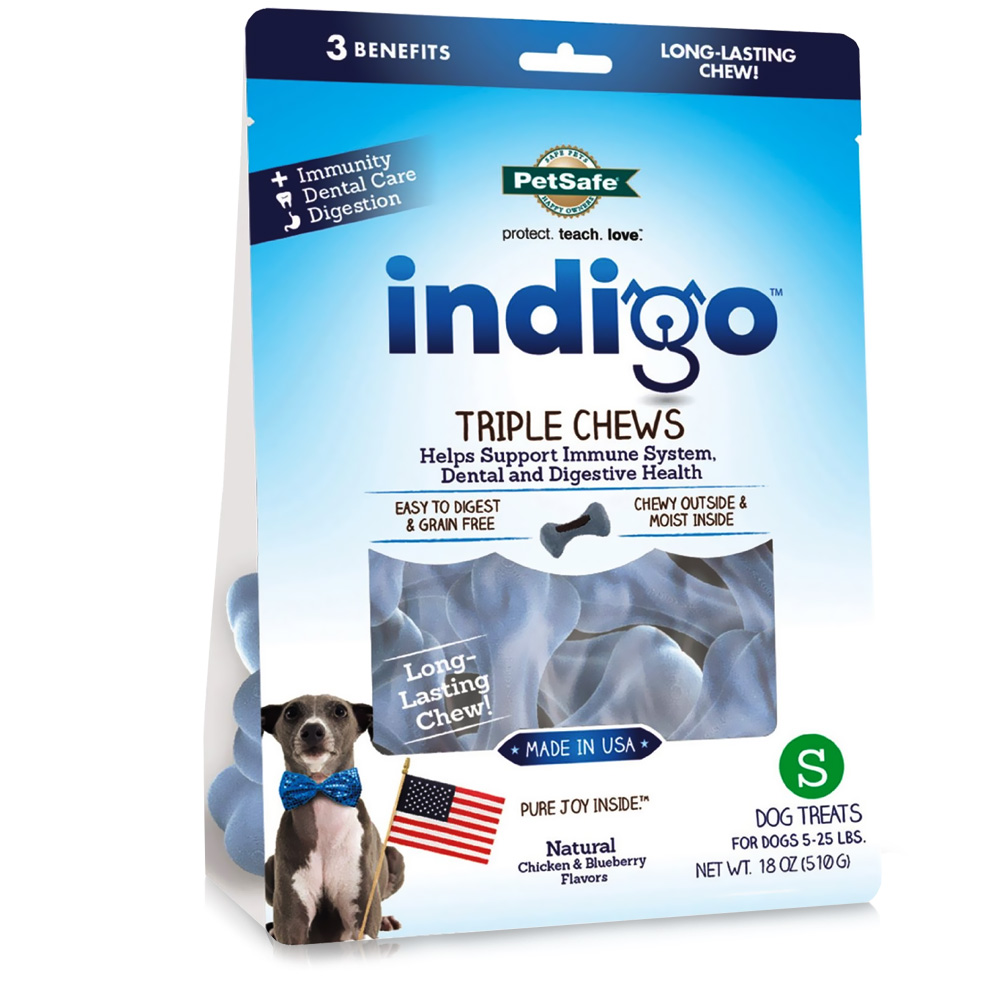 Petsafe Indigo Triple Chews Chicken - Small (18 oz)