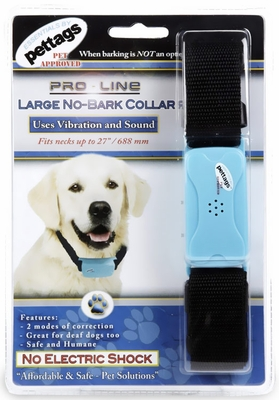 Pettags Pro NoBark Collar Black - Large