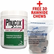 Phycox Soft Chews (120 count) + FREE Phycodent Chews - Large