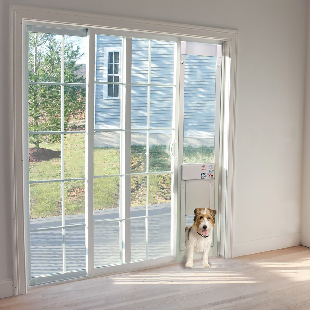 power pet low e fully automatic patio door large