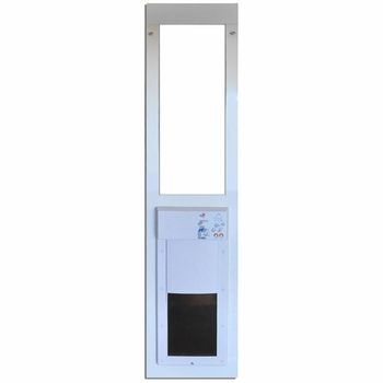 Large power pet low e fully automatic patio door regular height - Power Pet Low E Fully Automatic Patio Door Large