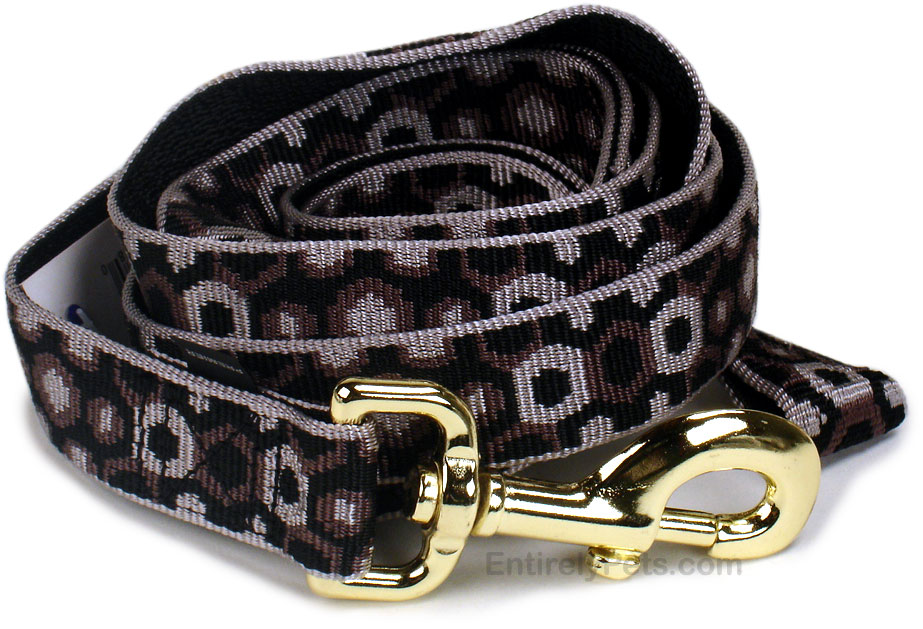 Premier 1 in x 6 ft Leash - SILVER & BLACK