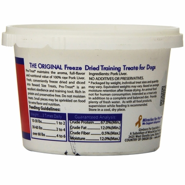 Pro-Treat Freeze Dried - Pork Liver Treats (2 oz)