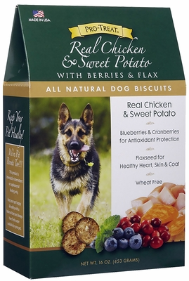 Pro-Treat Natural Dog Biscuits - Real Chicken & Sweet Potato (16 oz)
