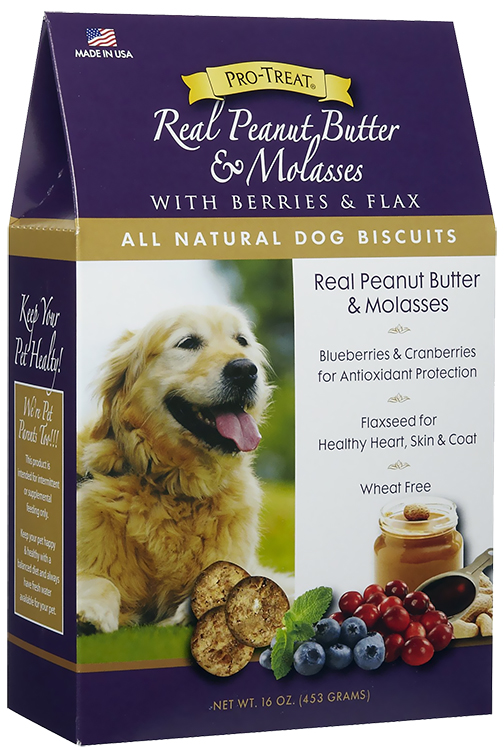Pro-Treat Natural Dog Biscuits - Real Peanut Butter & Molasses (16 oz)
