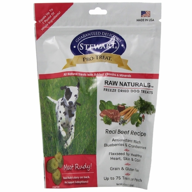 Pro-Treat Raw Naturals Freeze Dried Dog Treats - Real Beef (4 oz)