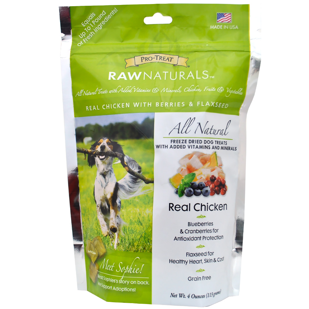 Pro-Treat Raw Naturals Freeze Dried Dog Treats - Real Chicken (4 oz)