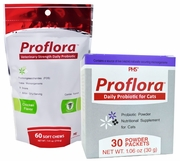 Proflora Probiotic Soft Chews and Single Serving Packets