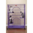 ProSelect Foldable Cat Cage 35.5Lx24Wx48 - Ivory