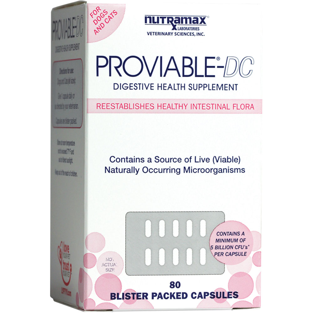 Proviable-DC - 80 capsules for Cats and Dogs