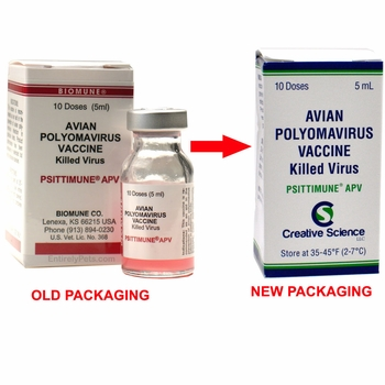 PSITTIMUNE APV Biomune Avian Polyomavirus Vaccine for Birds (5 mL)