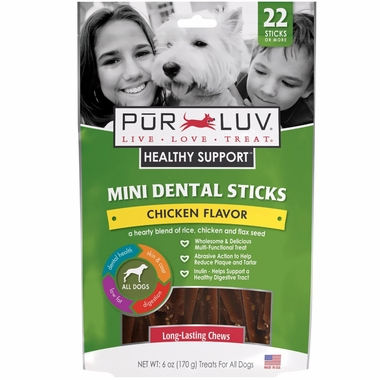 Pur Luv Healthy Support Dental Sticks - Mini (6 oz)