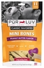 Pur Luv Mini Bones Peanut Butter Flavor Small Dogs (6 oz)