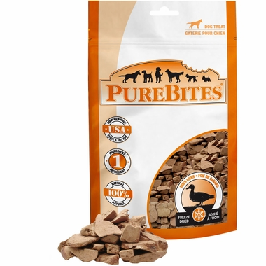 PureBites Duck Liver Freeze-Dried Treats for Dogs (2.6 oz)